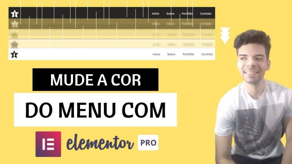 Como Criar um Menu que Muda de Cor Ao Rolar a Página | Wordpress com Elementor Pro