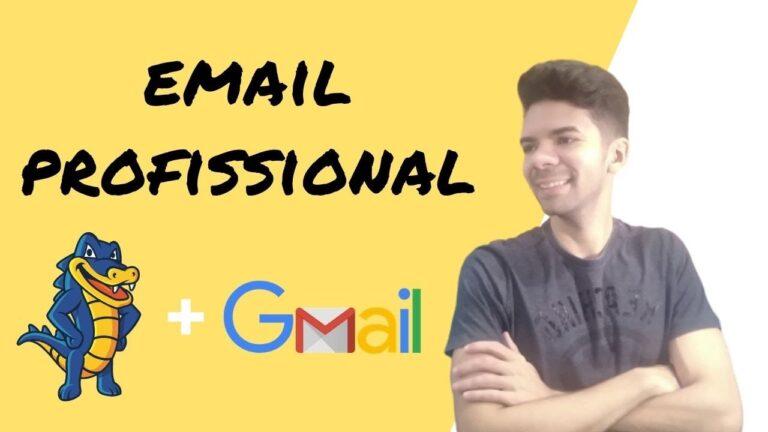 Como Criar Um Email PROFISSIONAL na Hostgator e Linkar com Gmail